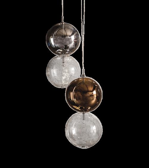 Lámparas Apollo 1 Acabados Cromo y Bronce. Cattelan