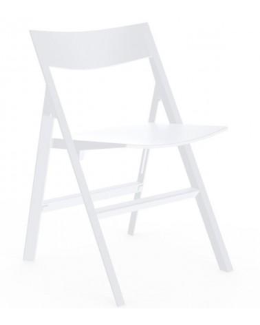 Silla Quartz Folding de Vondom blanca