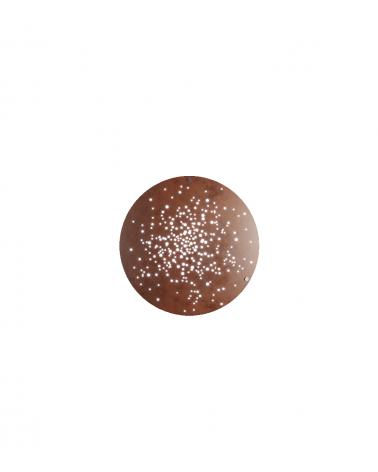 Aplique Lente F46 de 60 cm de diámetro  y acabado óxido. Fabbian